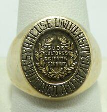 14K Yellow Gold Syracuse University Ring Size 11 17.9 Grams D8337