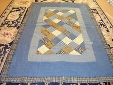 Men's Workshirt & Corduory Granny Square w/Frame Quilt