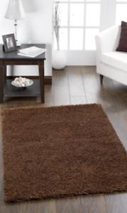 ORIGINS CHICAGO sparkle twist rug CHOCOLATE BROWN Various Sizes Circles & Runner