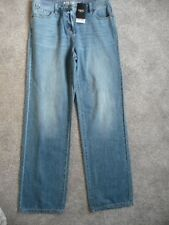 "BNWT (£30) NEXT Light Blue Denim Wide Leg Mid Rise Jeans. Size 8L Inside Leg 33"""