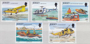 Jersey 2005 Rescue Craft Set UM SG1185-9 Cat £5.00