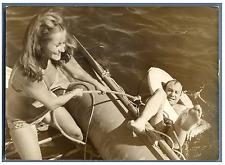 Fernand Raynaud et Danielle Denin  Vintage silver print Tirage argentique  1