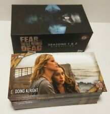 Topps  Fear The Walking Dead Season 1 & 2 Widevision Complete box card Set 1-81