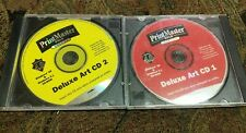 PrintMaster Gold Deluxe ART CD 1/2 Version 4.0 V4 CD RARE VINTAGE WINDOWS 3.1 95