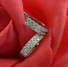 1.50Ct Round Cut VVS1/D Diamond Huggie Hoop Earrings Solid 14K White Gold Finish