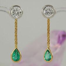 Reinheit SI Echtschmuck-Ohrschmuck aus mehrfarbigem Gold mit Butterfly-Verschluss für Damen