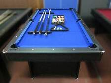 7 FOOT POOL TABLE WITH BLUE FELT PLUS ACCESSORIES   NEW 2019 MODEL