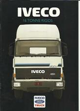 FORD IVECO 16 TONNE RIGIDS LORRY TRUCKS SALES BROCHURE 1986