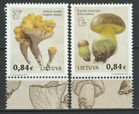 Lithuania 2016 Mushrooms 2 MNH stamps