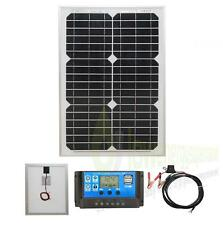 20w Mono Solar Panel Battery Charging Kit,Charger Controller Boat Caravan HomeK1
