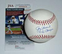 BREWERS Doc Medich signed baseball w/ 1982 AL Champs JSA COA AUTO Autographed