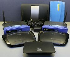 Lot of 6 Linksys Routers Switch Wrt54G Wrt54G2 Ea6500 Se2500 Wifi Ethernet