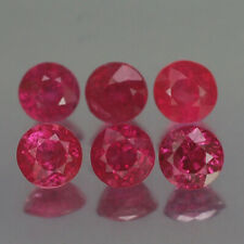 1.20CT CHARMIMG AA 6PCS UNHEATED ROUND RED RUBY NATURAL