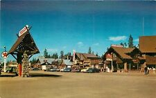 Unposted Chrome PC Texaco Chevron Gas Station West Yellowstone MT 1950's Cars