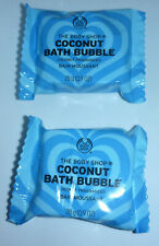 New The Body Shop Coconut Bath Bubble Fragranced Foaming Limited Edition 2x 28g