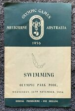 Melbourne Olympics Swimming Programme 28 November 1956, free EXPRESS AU