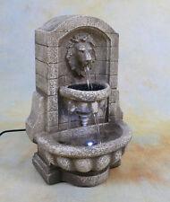 Zimmerbrunnen Springbrunnen Wasserwand Tischbrunnen LED Brunnen mini Löwe DW08-a