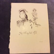 Vintage Book Print - She Cut My Tail Off! - Dorothy Wall - 1933