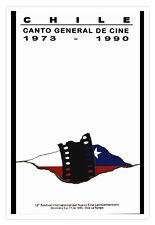 Cuban decor Graphic Design movie Poster 4 film Chile Canto de cine.Flag art