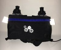 Hydration Belt with Water Bottles BPA-free Zipper Pocket Reflective running Belt