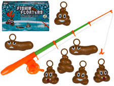 OOTB 7PC FISHING FOR FLOATERS BATH GAME - POO POOP BATHTIME ADULT KIDS FUN TOY