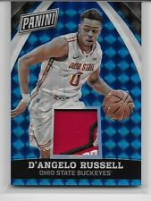 2015 15 PANINI NATIONAL VIP D'ANGELO RUSSELL ROOKIE BLUE PRIZM SUPER PATCH 21/25