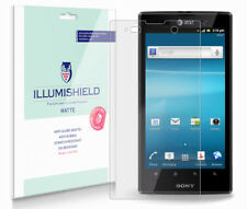 iLLumiShield Matte Screen Protector w Anti-Glare/Print 3x for Sony Xperia ion