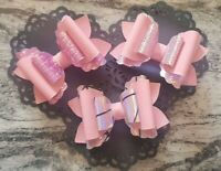 3.5 inch Plastic Hair bow template scalloped overlay loop make your own hair bow