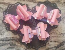 4 Pulgadas Plástico Cabello Moño plantilla festoneado en capas bucles hacer su propio arco de pelo