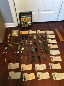 G.I. Joe Collector Display Case and 24 Figures Plus Lots of Guns Accessories
