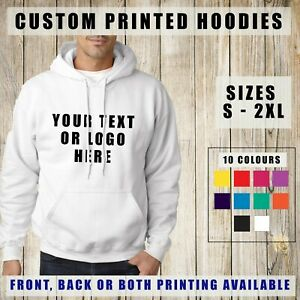 Custom Printed Hoodie Unisex Personalised Stag Hen Event Hoody