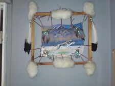 Native Indian Wolf Skin Wall Hanging - The Wolf