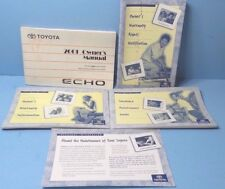 01 2001 Toyota Echo owners manual
