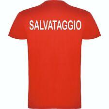T-SHIRT  SALVATAGGIO BAGNINO ROSSA LIDO
