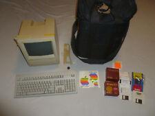 APPLE MACINTOSH SE HOME COMPUTER SYSTEM VINTAGE W BAG KEYBOARD SOFTWARE LOT MAC
