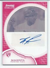 Ben Revere 2011 Bowman Sterling AUTO ROOKIE Card Magenta Printing Plate #17 MINT
