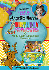 Personalised Birthday Party Invitations scooby doo,Scooby do party 8 cards  (A6)
