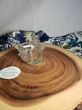 336 Avon Dove in Flight Bird Shaped Clear Glass Votive Candle Holder