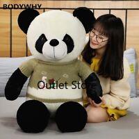 Cute Sweater Panda Bear Plush Stuffed Animal Doll Toy Pillow Cartoon Dolls Gifts