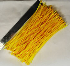 50pcs 150mm Nylon Plastic Zip Trim Wrap Cable Loop Ties Wire Self-Locking Yellow
