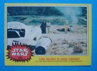 Topps 1977 **STAR WARS - Yellow** Key Last Card #198 Luke SKYWALKER C3PO Ex/Nm