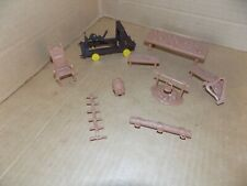 Vintage Marx Fighting Knights play set Catapult, and small accessories