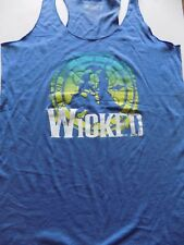 Size Large Wicked Musical Broadway Wizard of Oz Elphaba Blue Racerback Tank Top