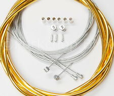 Bicycle 5mm LINED vintage ROAD bike brake cable housing kit  SHINY GOLD