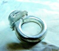 Antique Silver Ring ethnic tribal bedouin gypsy Islamic Egyptian Zar - خاتم زار
