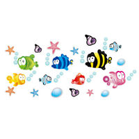 Fish Starfish Bubble Wall Sticker Nursery Bathroom Children Room Home Decor A Js