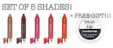 MUA Power Pout Moisturising Colour Intense Tint & Balm SET OF 5 +LIP TRANSFORMER