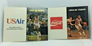 1991-1994 Maryland Terrapins Basketball Schedules Coca-Cola & US Air