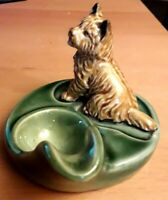 WADE Vintage Art Deco Ceramic Cairn Terrier Pipe / Spoon Rest Excellent Cond'tn