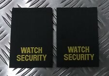 Genuine Specialist Watch Security ID Embroidered Rank Slides Epaulettes - APOR07